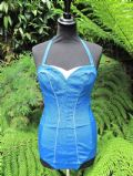 1950's turquoise blue vintage swimsuit **SOLD** es